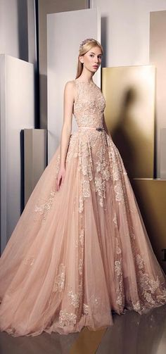 dress ball gown on sale at reasonable prices, buy Luxury Blush Ball Gown Lace Appliques Evening Dresses 2016 Floor Length Tulle Long prom dresses party formal gown vestidos from mobile site on Aliexpress Now! Lovely Dresses, Beautiful Gowns, Elegant Dresses, Beautiful Outfits, Collection Couture, Dress Collection, Summer Collection, Style Couture, Couture Fashion