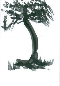 Arbol negro. Pintado por JR Iglesias