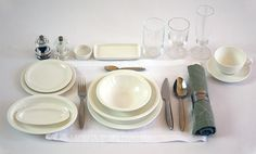 Concorde place setting