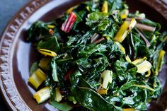 Yummy chard recipe... Went well with tonight's baked salmon. Even the kids claimed to like it!