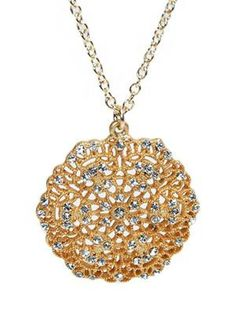 Style Tryst Medallion Necklace, Style Tryst medallion necklace, Style Tryst necklace, Style Tryst necklace with crystals, Style Tryst free shipping