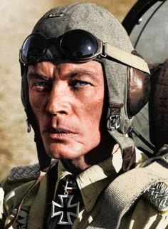 Ernst Kupfer, a German Luftwaffe ace, who flew 636 missions in Junkers Ju Henschel Hs 123 and Focke Wolf