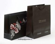 Бумажные пакеты с матовой ламинацией