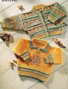 "BABIES~TODDLERS~SWEATER~CARDIGAN~FAIR ISLE~  KNITTING PATTERN~SIZE 18-20"" (T83)  