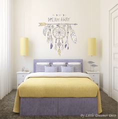 Bedroom makeover tips Bedroom Colors, Bedroom Decor, Wall Decor, Wall Decals For Bedroom, Wall Art Designs, Modern Room, Girl Room, Interior Design, Makeover Tips