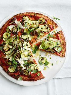 super green cauliflower pizzas