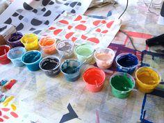 Mixed inks