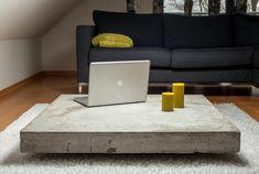 beton couchtisch niedriges modell robuste platte