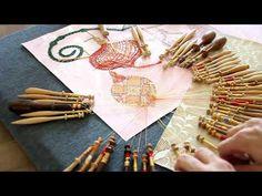 028# BND FIN de la 2ème boule (LADENTELLEDELILA.WIFEO.COM) - YouTube Bobbin Lace, Tatting, Couture, Videos, Papillons, Embroidery, Needlework, Haute Couture, Bobbin Lacemaking