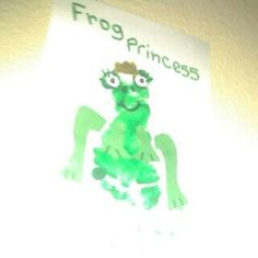 Frog prince or princess baby fairy tale footprint craft