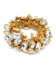 Take a look at this Gold Harriet Stretch Bracelet by Amrita Singh on #zulily today!