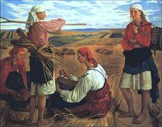 Serebriakova, Zinaida (Russian, 1884-1967) - Harvesting - 1915