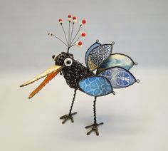 """""""Pepper"""" small, blues Wire Crafts, Wire Art, Pepper, 3 D, Insects, Blues, Sculpture, Animals, Inspiration"""