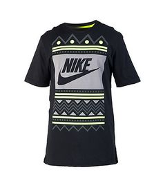 NIKE+Air+Raid+tee+Short+sleeves+Contrasting+colors+Abstract+print+graphic+on+front+NIKE+swoosh+logo+Crew+neck+Cotton+for+comfort
