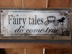 Fairy tales do come true recycled wood framed by LandonHunter, $19.99