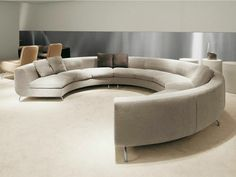 Modular sofa for relaxing Dubuffet, Minotti.