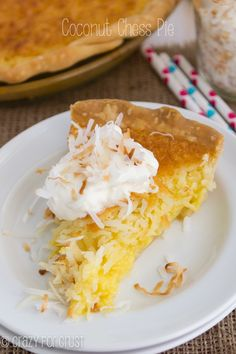 This Coconut Chess Pie is a coconut lover's dream pie!