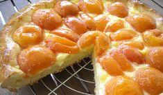 Tarte briochée aux abricots au Thermomix,recette d'une savoureuse tarte briochée, garnie de crème pâtissière et d'abricots, facile à réaliser au Thermomix