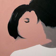 "Saatchi Art Artist: Jarek Puczel; Oil 2012 Painting ""Lovers (2)"""