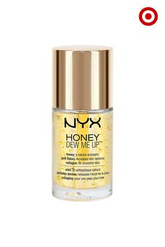 NYX Honey Dew Me Up Primer is more than your ordinary primer. In addition to prepping your face for even, long-lasting makeup, it's loaded with good stuff for your skin, too. Like naturally antiseptic honey, collagens to strengthen skin, and gold flecks for added radiance. Wear it alone or under moisturizer and makeup for the perfect everyday glow.