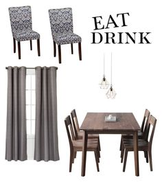 """""""EAT DRINK"""" by ruttan-7 on Polyvore featuring interior, interiors, interior design, home, home decor, interior decorating, Hedge House and Eclipse"""