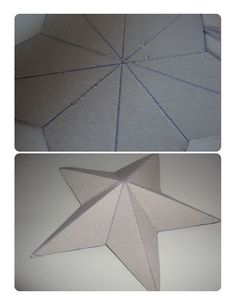 Paper 3-D stars- just made a few for my wall! very easy, but yet so cool!: