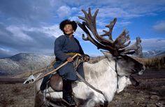 "Shaman Matriarch of the Dukha (a.k.a. ""Tsaatan"", ""the Reindeer Herders""), Mongolia. ©Hamid Sardar/Corbis"