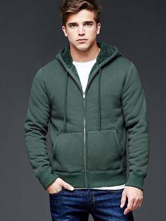 Sherpa zip hoodie