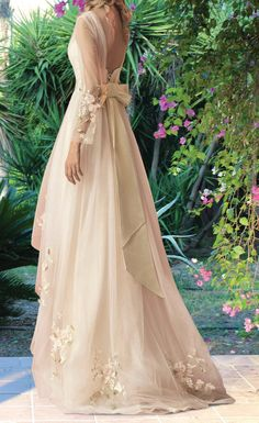 Bohemian Wedding dress Flower Wedding dress by MariStyleCouture