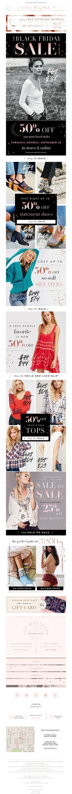 Free People - 50% OFF: Sweaters + Thermals + Slips