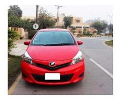 Toyota Vitz Red Color Scratch Less Condition Model 2012 Sale In Lahore