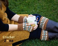 Diamonds and Gems Fingerless Gloves and Boot Cuffs ~ just like the title says these look like diamonds & gems ~ it's an easy pattern & it's also a FREE CROCHET pattern so get busy crocheting now & all eyes will be on you!