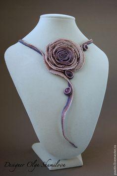 """Колье, бусы ручной работы. Ярмарка Мастеров - ручная работа Колье """"Rose"""". Handmade."""