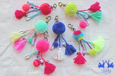 SHAMO bags // bagcharms in hot colours