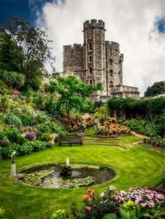 The Queens Garden Windsor Castle England