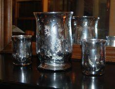 Faux mercury glass