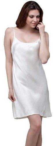 Women's Solid Silk Nightgown Sleepwear 100% Mulberry Silk Adjustable Straps With exquisite workmanship. Soft, cool, comfortable feelings embrace you. Hand Wash Suitable for girls and women wearing at home as a nice sexy lingerie, nightgown, homewear. Terrific gift for women.  Price:	$45.99