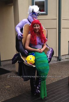 amazing ursula and ariel little mermaid illusion costume - Raving Rabbids Halloween Costume