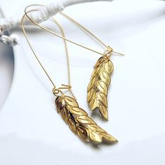 NEW Antique Gold Plated Wheat Charm Dangle by Emunique Jewelry