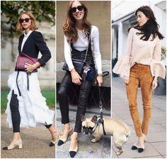 Chanel Bicolor Slingback Shoes -Candela Novembre, Chiara Ferragni and Sylvia Haghjoo