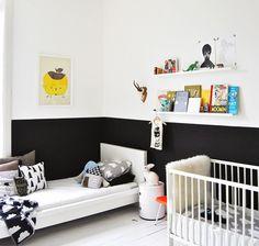 como decorar un dormitorio infantil en blanco y negro