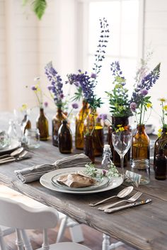 Tips and inspiration for a beautiful party table 01 00028 Decoration Birthday, Wedding Table Settings, Outdoor Table Settings, Deco Table, Tablescapes, Wedding Decorations, Summer Table Decorations, Wedding Ideas, Dining