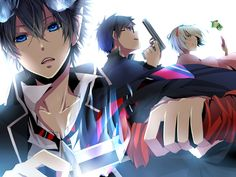 Anime Blue Exorcist Shiemi Moriyama Rin Okumura Yukio Okumura Ao No Exorcist Wallpaper