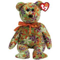 Ty Beanie Babies Groovey - Flower Print Bear (Green) (Toy) http  b6a916d67c4b