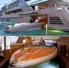 Parking you boat inside your Mega-Yacht