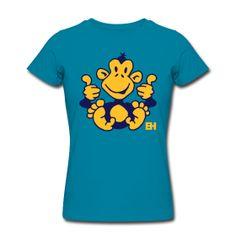 Monkey T-Shirt. #Spreadshirt #Cardvibes #Tekenaartje