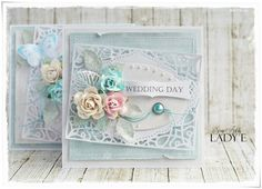 Lady E Design by ladyEdesign Card Making Tutorials, Making Ideas, Wedding Cards Handmade, Shabby Chic Cards, Spellbinders Cards, Engagement Cards, Card Tags, Flower Cards, Cute Cards