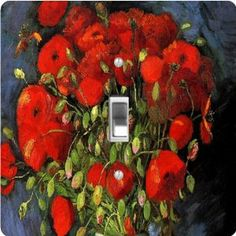 "Rikki KnightTM Van Gogh Art Red Poppies - Single Toggle Light Switch Cover by Rikki Knight. $13.99. The Van Gogh Art Red Poppies single toggle light switch cover is made of commercial vibrant quality masonite Hardboard that is cut into 5"" Square with 1'8"" thick material. The Beautiful Art Photo Reproduction is printed directly into the switch plate and not decoupaged which make these Light Switch Plates suitable for use in any room in the office, home, etc. etc.. T..."