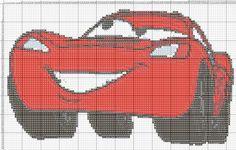 Free Minion Cross Stitch Pattern   Dibujos Punto de Cruz Gratis: Rayo mcqueen - Punto de crúz