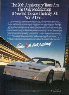 1989 Turbo Trans Am Ad